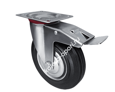 промышленное колесо поворотное с тормозом SCb