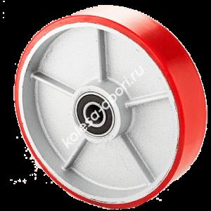 Большегрузное полиуретановое колесо на ось