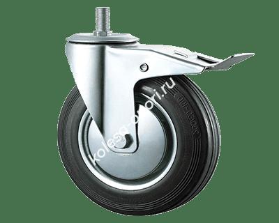 промышленные колёса с болтом и тормозом