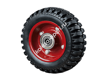 колесо рифленое литая резина