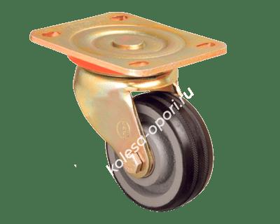 Колесо большегрузное обрезиненное неповоротное